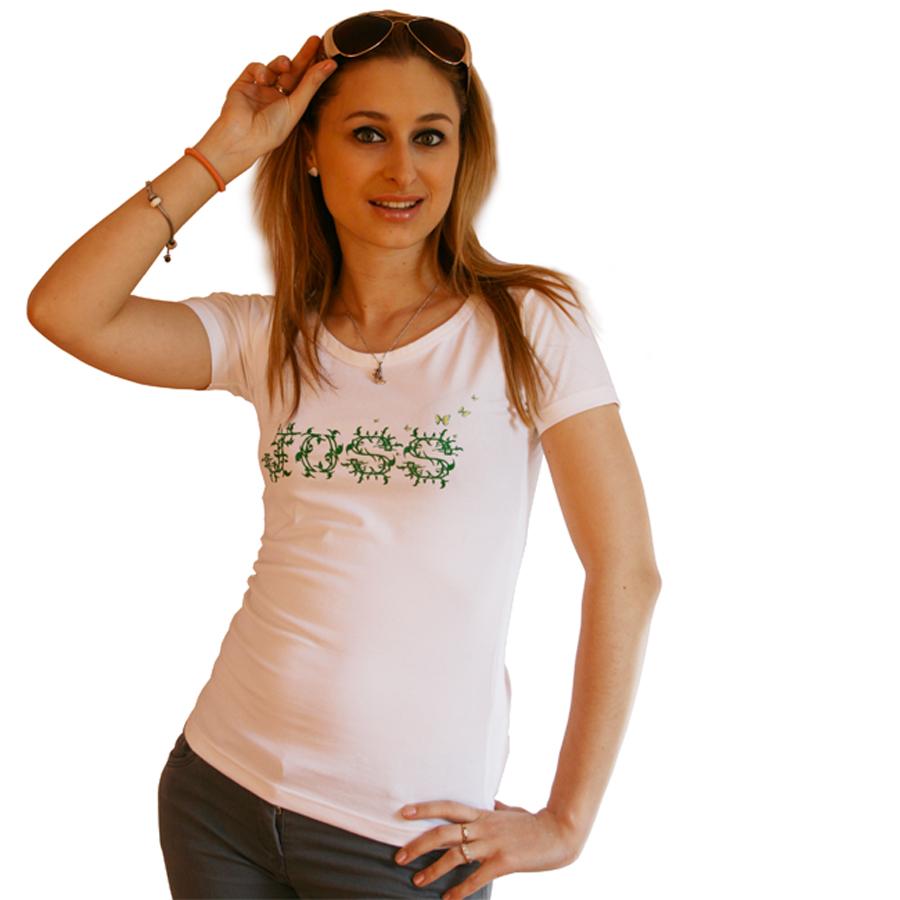 T shirt avec motif floraux
