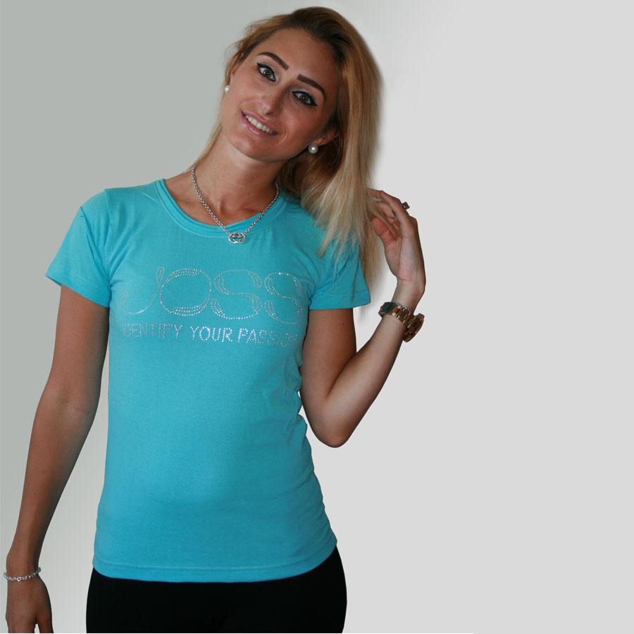 Tee shirt bleu turquoise