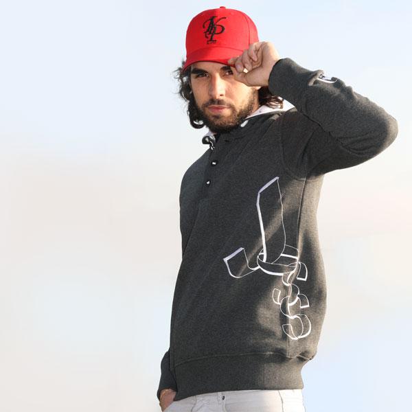 Sweatshirt gris chiné