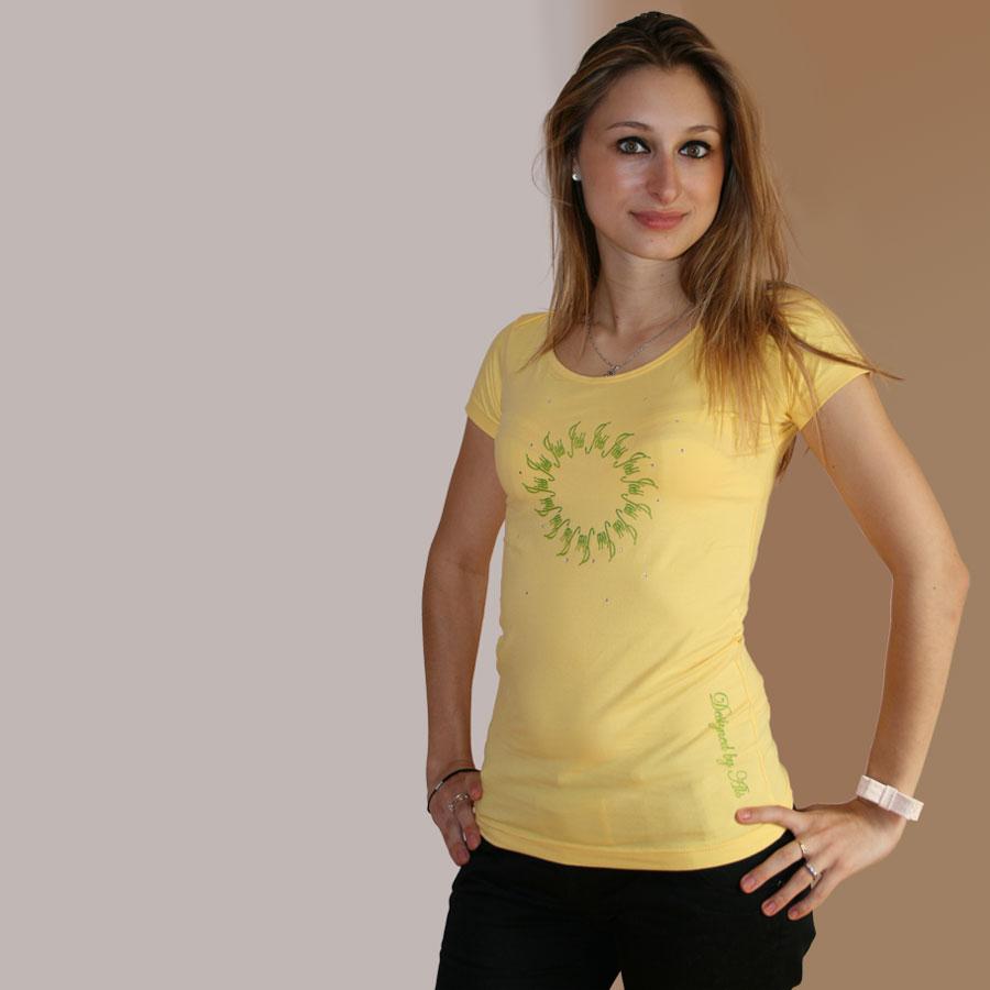 Bedrucktes T Shirt mit Sonnenmuster 1-JOSS