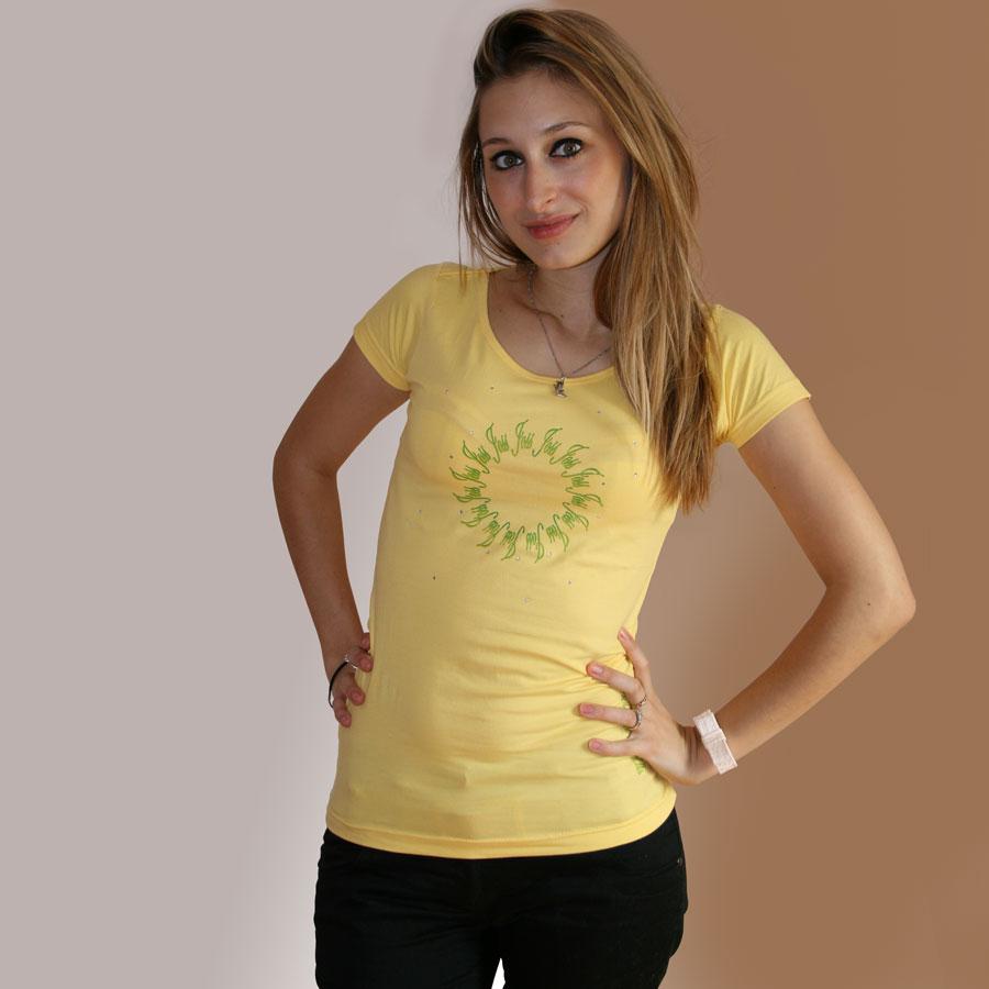 Bedrucktes T Shirt mit Sonnenmuster