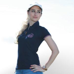 Marineblaues Polo Shirt-JOSS