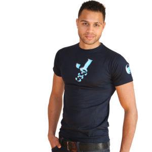 Marineblaues T Shirt-JOSS