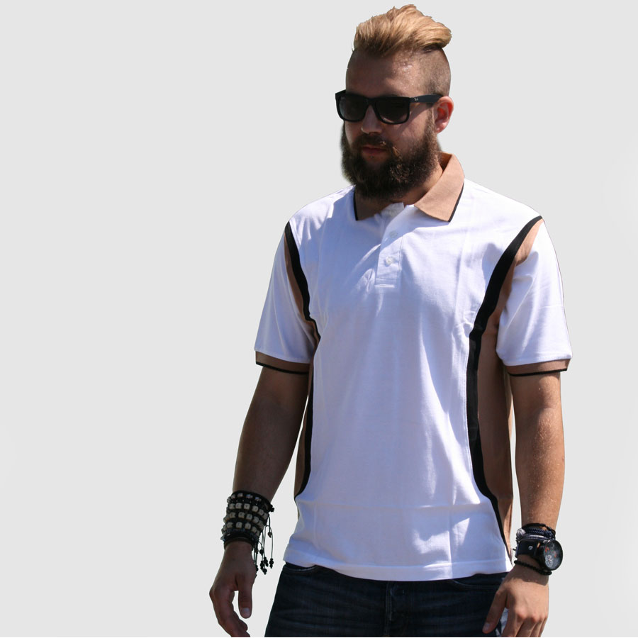 Sports style polo shirt