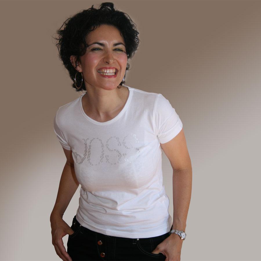 T-Shirt mit Glitzermuster-JOSS