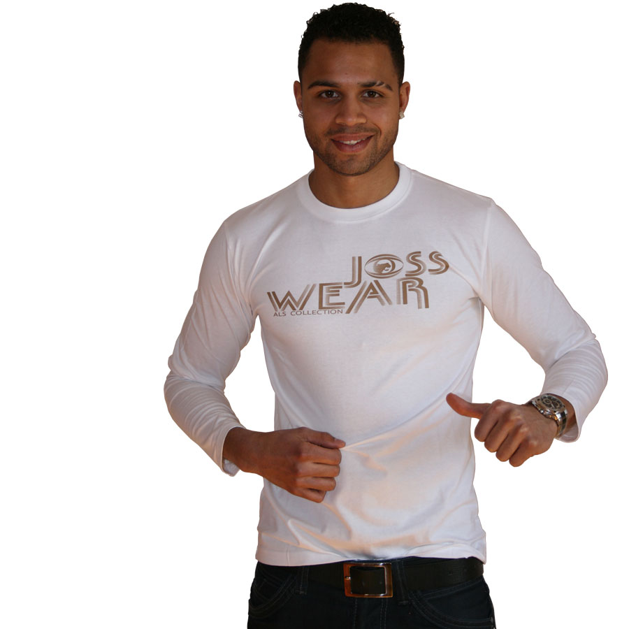 Weißes Jersey T Shirt-JOSS