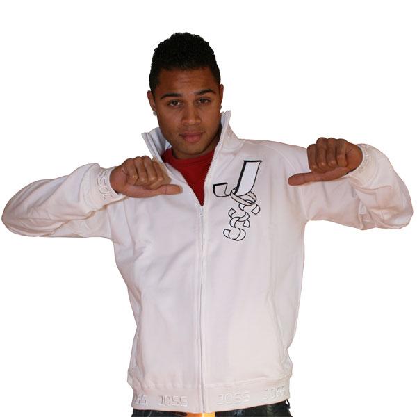 Weißes Sweatshirt mit Reißverschluss