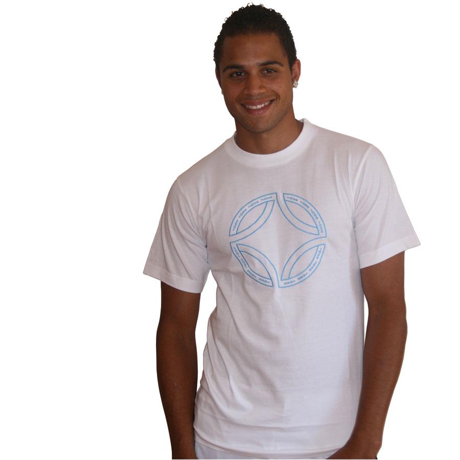 T-Shirt mit gesticktem Muster